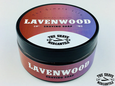 """The Simple Life"" - LAVENWOOD Shaving Soap - 6OZ."