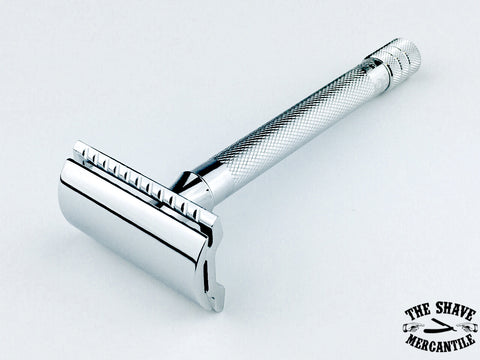 Merkur 23C Double Edge Safety Razor, Extra Long Handle, Chrome