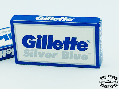 Gillette Silver Blue Double Edge Razor Blades (pack of 5)