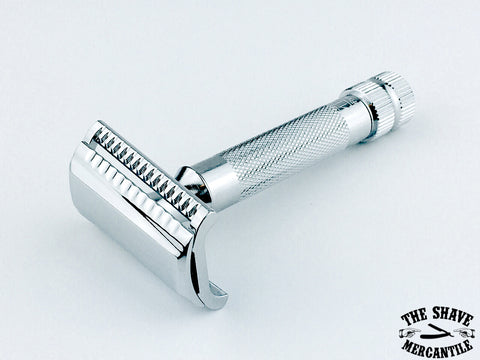 Merkur 37C HD Slant Double Edge Safety Razor, Extra Thick Handle, Chrome