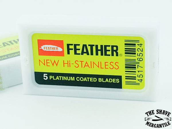 Feather New - Hi Stainless Double Edge Razor Blades (pack of 5)