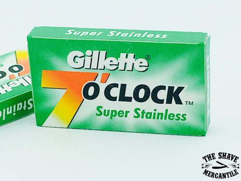 Gillette 7 O'Clock Super Stainless Double Edge Razor Blades (pack of 5)