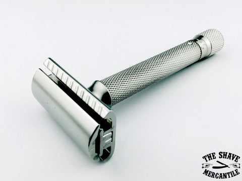 Parker Variant Adjustable Double Edge Safety Razor - Satin Chrome