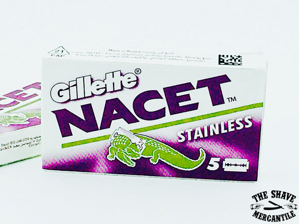Gillette Nacet Stainless Steel Double Edge Razor Blades (pack of 5)