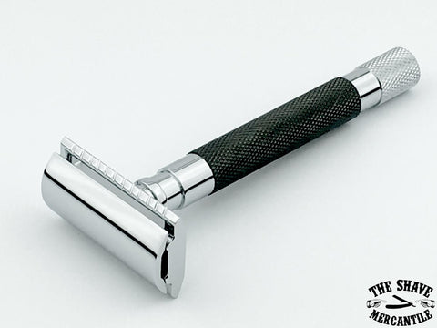 Parker 56R Heavyweight 3-Piece Double Edge Safety Razor - Graphite