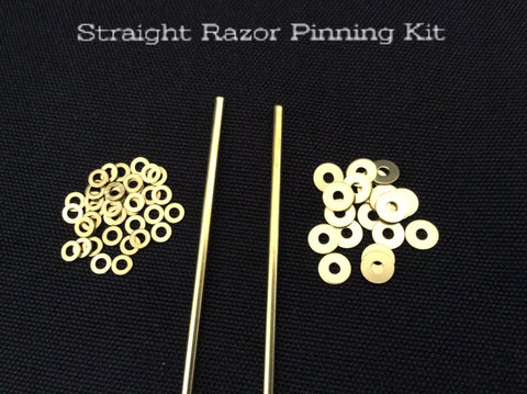 Straight Razor Pinning Kit - Brass