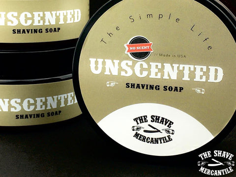 """The Simple Life"" - UNSCENTED Shaving Soap - **NEW** 4 OZ. SIZE"