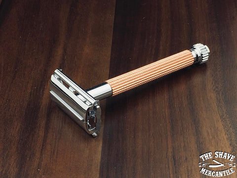 Parker 29L Butterfly Open Double Edge Safety Razor - Rose Gold