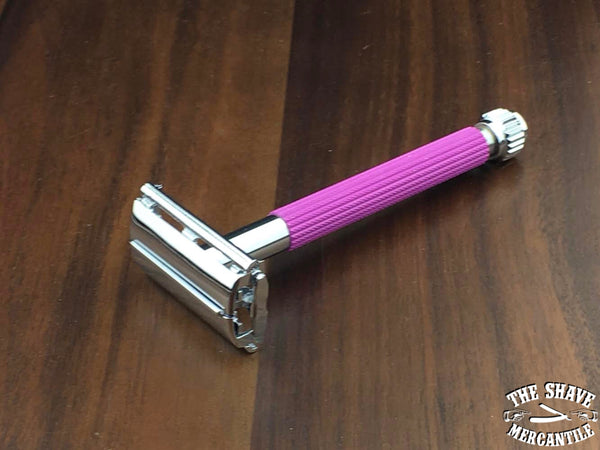 Parker 29L Butterfly Open Double Edge Safety Razor - Lavender