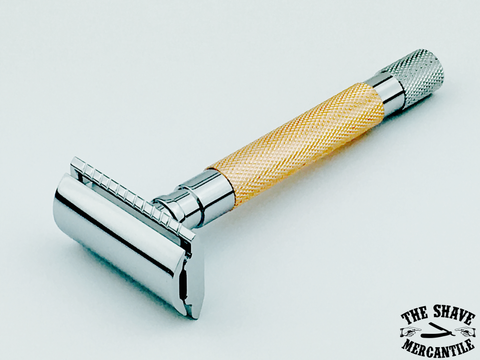 Parker 56R-RG Heavyweight 3-Piece Double Edge Safety Razor - Rose Gold