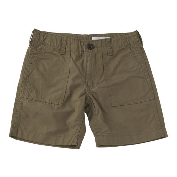 Short Fatigue Pants in Khaki Cotton
