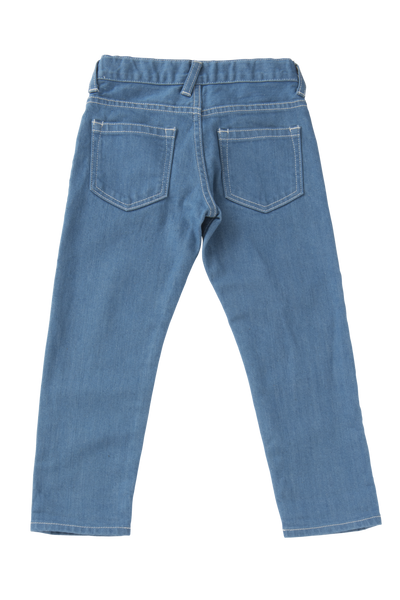 Slim Tapered Denim Pants in Blue