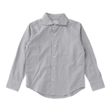 Cutaway Collar Shirt in Grey Gingham - East End Highlanders