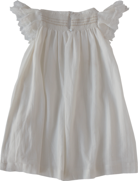 White Smocked Dress - Sissonne | niko+ava