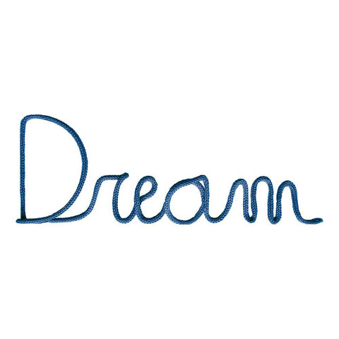 """Dream"" Wall Decoration in Petrol Blue"