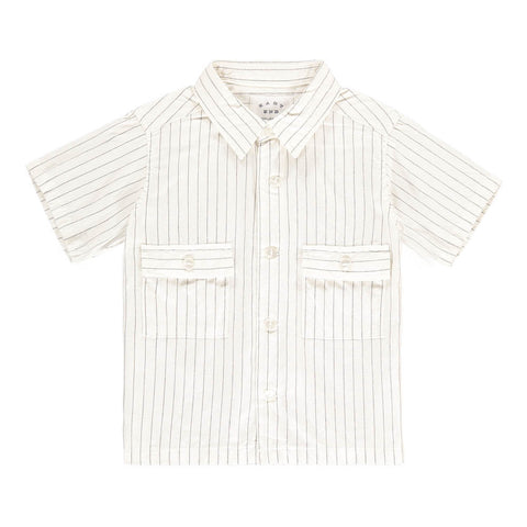 Short Sleeve Patch Pocket Shirt in White