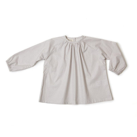 Collarless Blouse in Dots