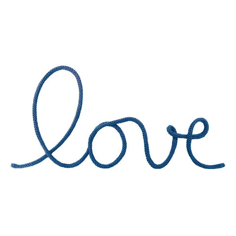 """Love"" Wall Decoration in Petrol Blue"