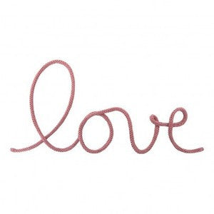 """Love"" Wall Decoration in Dusty Pink"
