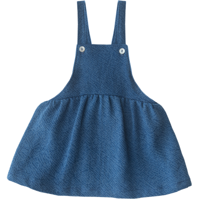 Cotton Denim Dungaree Dress