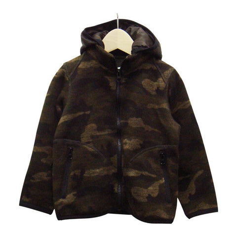 Men's Sweater Fleece Parka in Camo