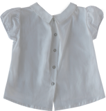 Round Collar Blouse in White