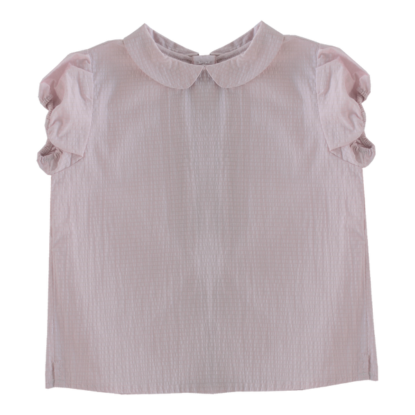 Round Collar Blouse in Pink