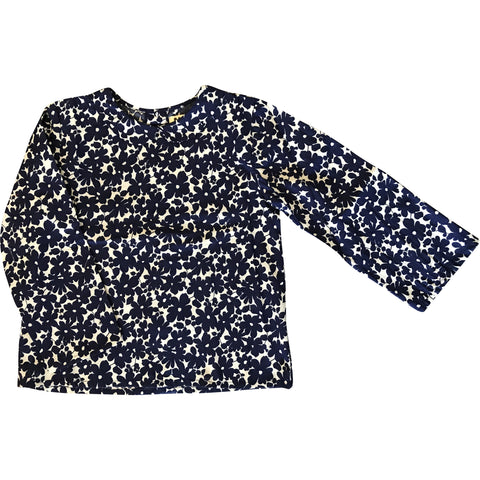 Claudine Blouse in Daisy Print