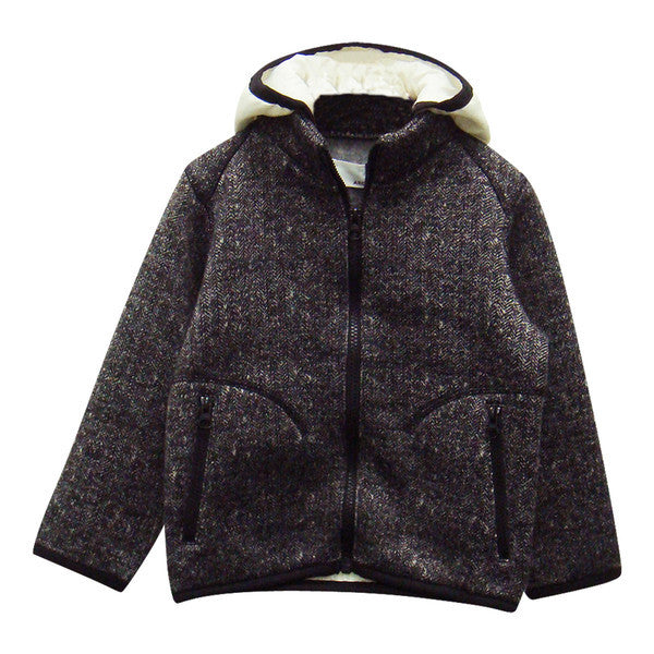 Men's Sweater Fleece Parka in Charcoal