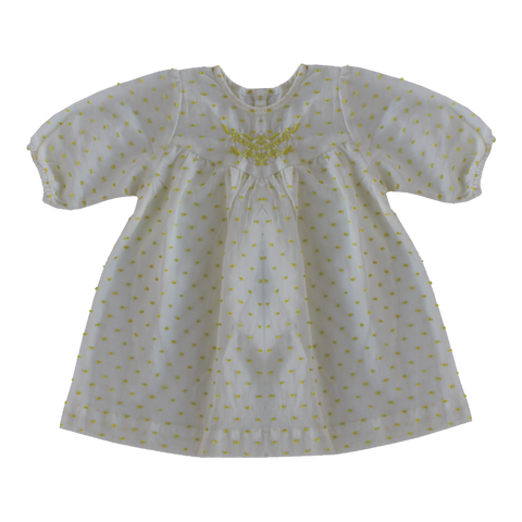 Yellow Dot Embroidered Dress - Sissonne | niko+ava