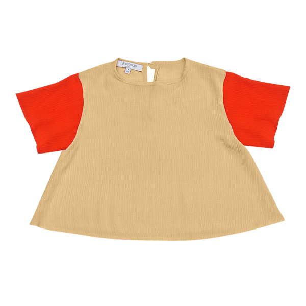 Crepe Top in Gold - Paade Mode