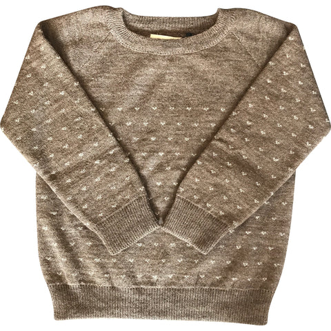 Heart Sweater in Cocoa