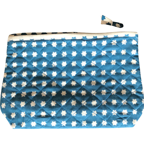 Toiletry Pouch in White Star Print