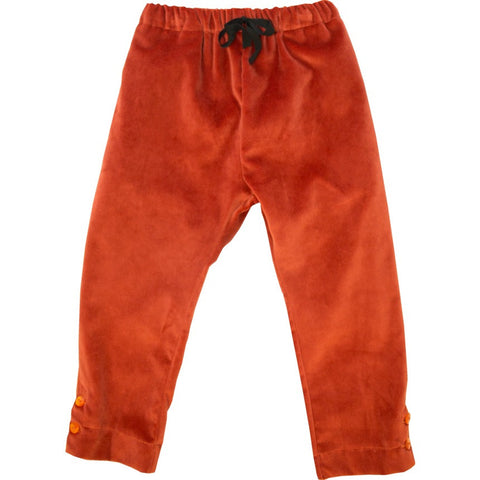 Velvet Orange Trousers