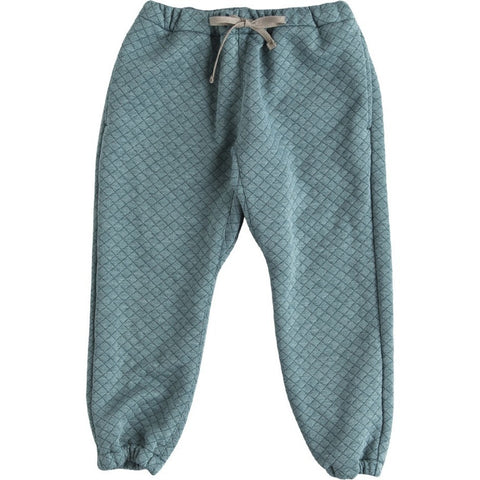 Quilted Jersey Pants in Green