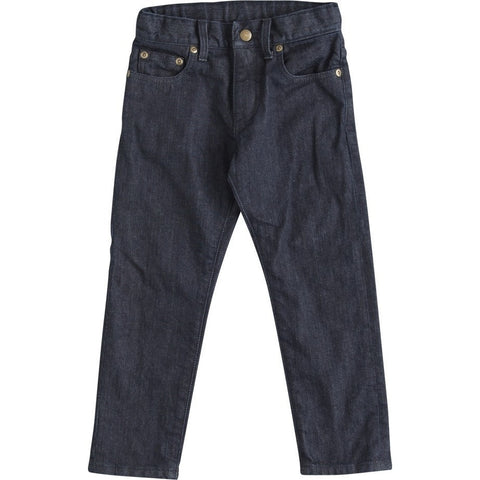 Slim Tapered Denim Pants in Dark Navy