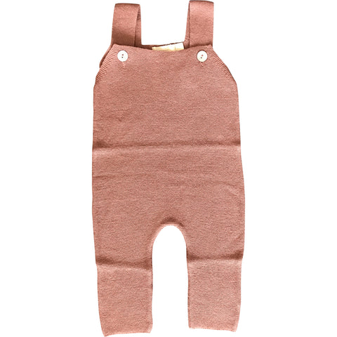Knitted Old Rose Dungaree