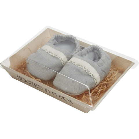 Booties in a Box in Grey and Ivory - Annaliv