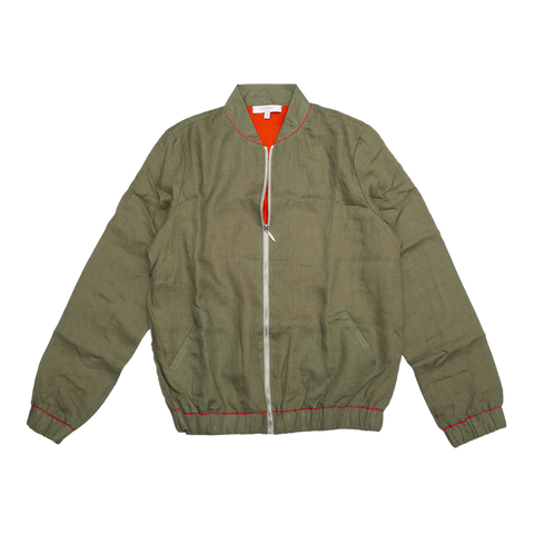 Women's Linen Bomber Jacket