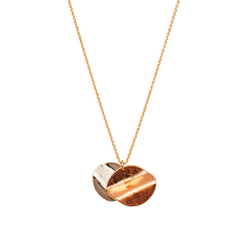 Double Love Token Necklace - Bex Rox