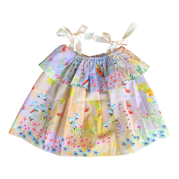 Hand-Painted Birds & Butterflies Dress - I Haven't the Foggiest