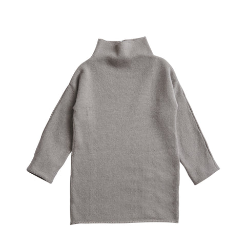 Funnel Neck Dress in Grey