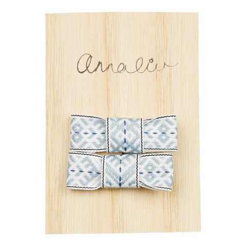 Hair Bow Set in Grey - Annaliv