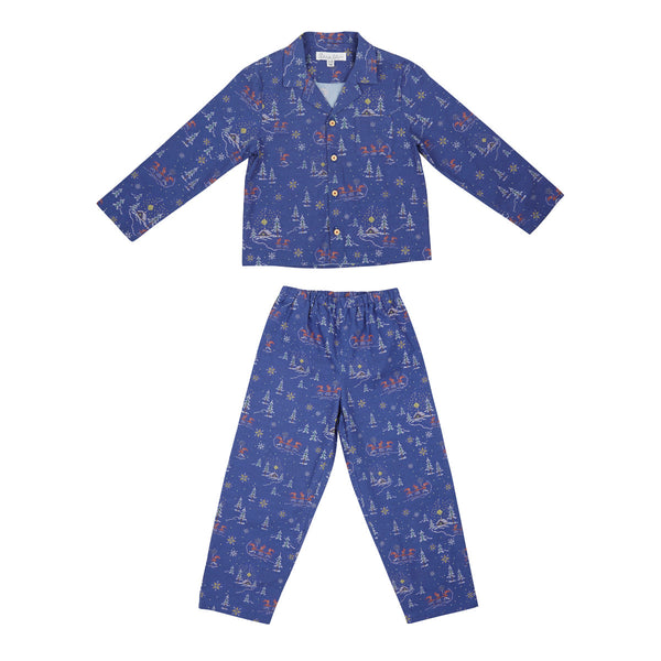 Hygge Winter Pyjamas in Blue - Annaliv