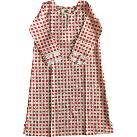 Nightie in Red Star Print