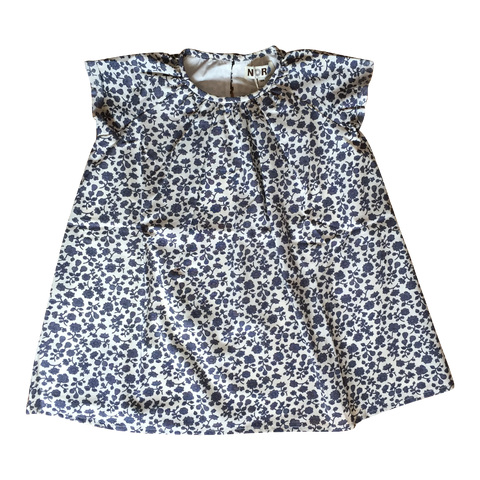Nina Dress in Navy Flower Print