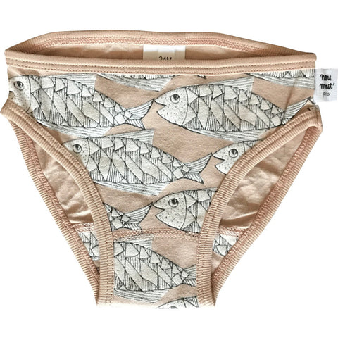 Zut Cotton Panty in Bearded Salmon Print