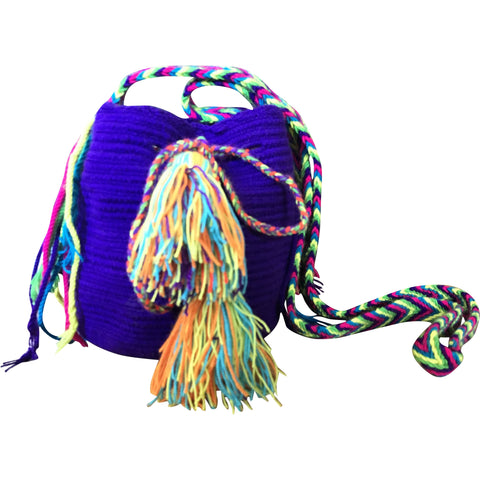 Girl's Wayuu Handcrafted Purple Mochila