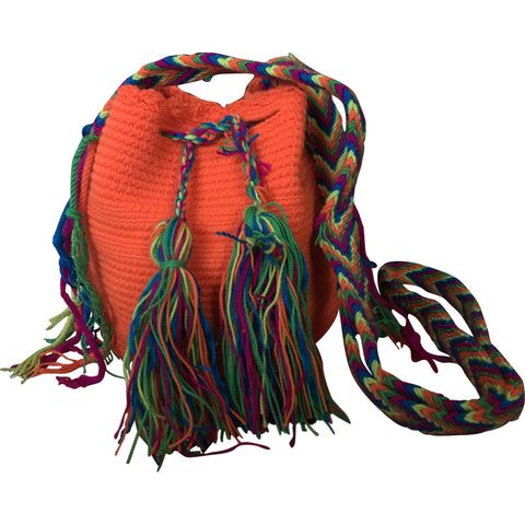 Girl's Wayuu Handcrafted Orange Mochila