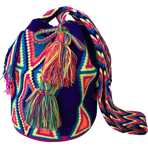 Women's Wayuu Handcrafted Multicolored Mochila